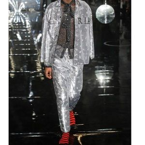 Ashish Mirror Ball Sequin Rest In Peace RIP Top